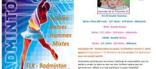 Badminton Tournoi Trisomie 21